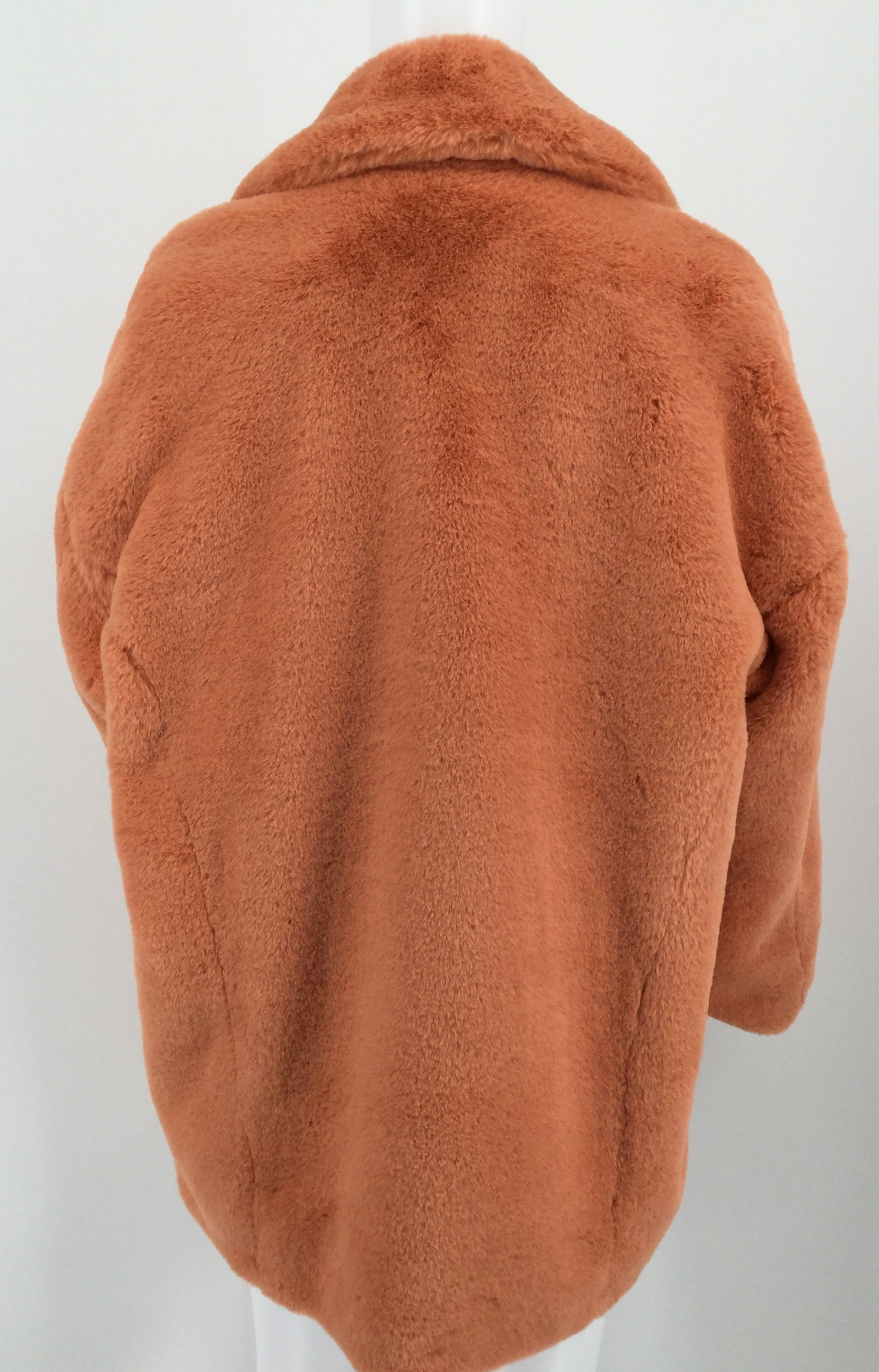Free People Coral Fuzzy Jacket MSRP $148