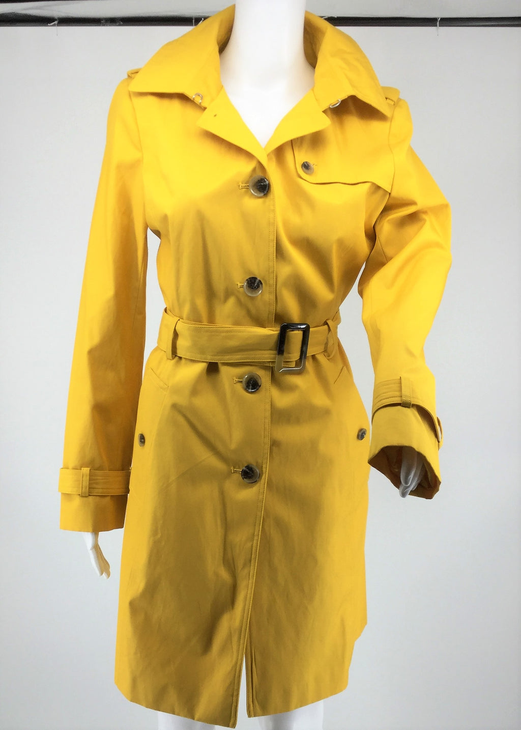 Dkny Yellow Rain Jacket Size:S