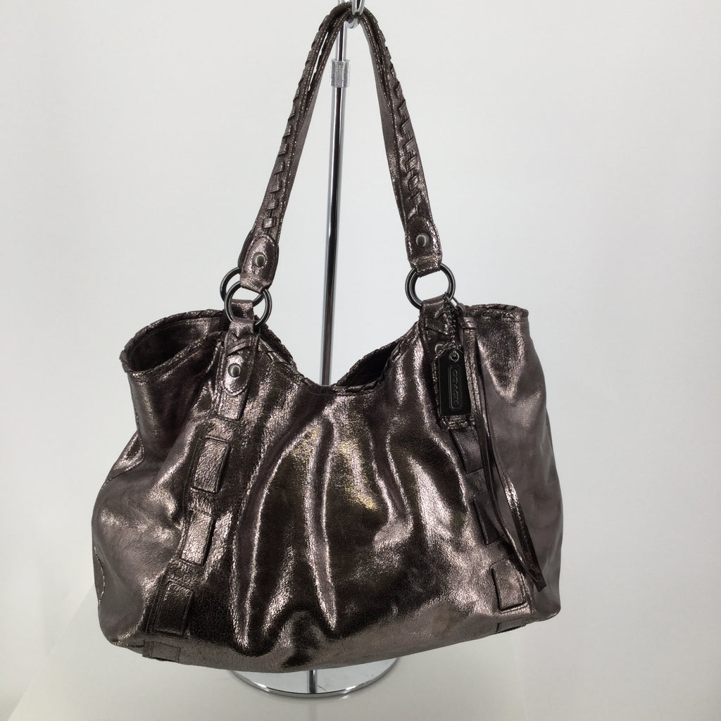 Coach Metallic Handbag Designer Size Large