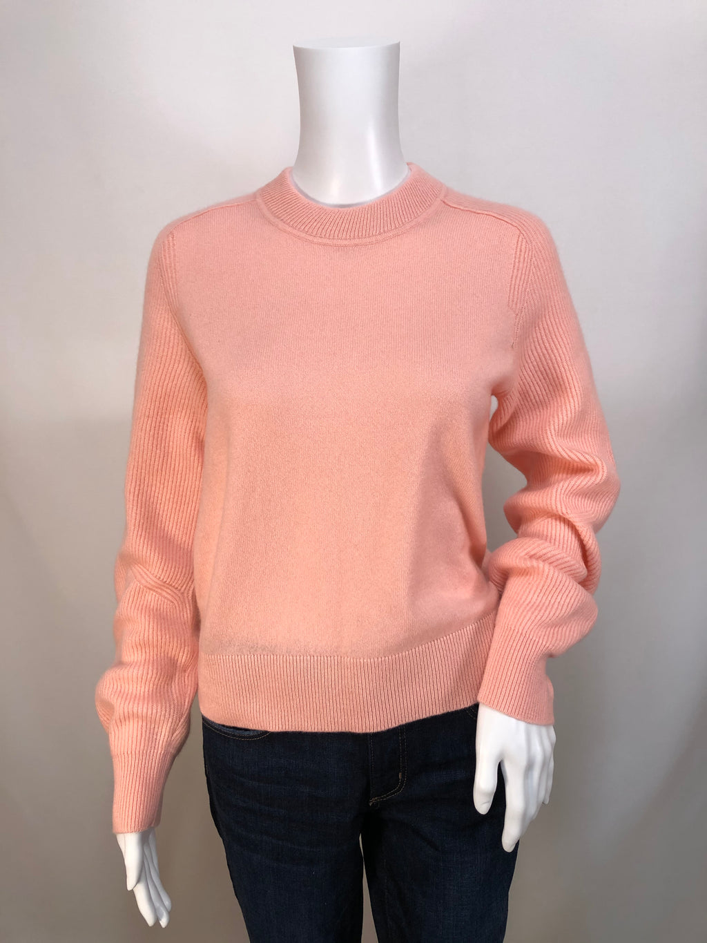 Rag and Bone Pink Rose Logan Cashmere Crew Sweater size S