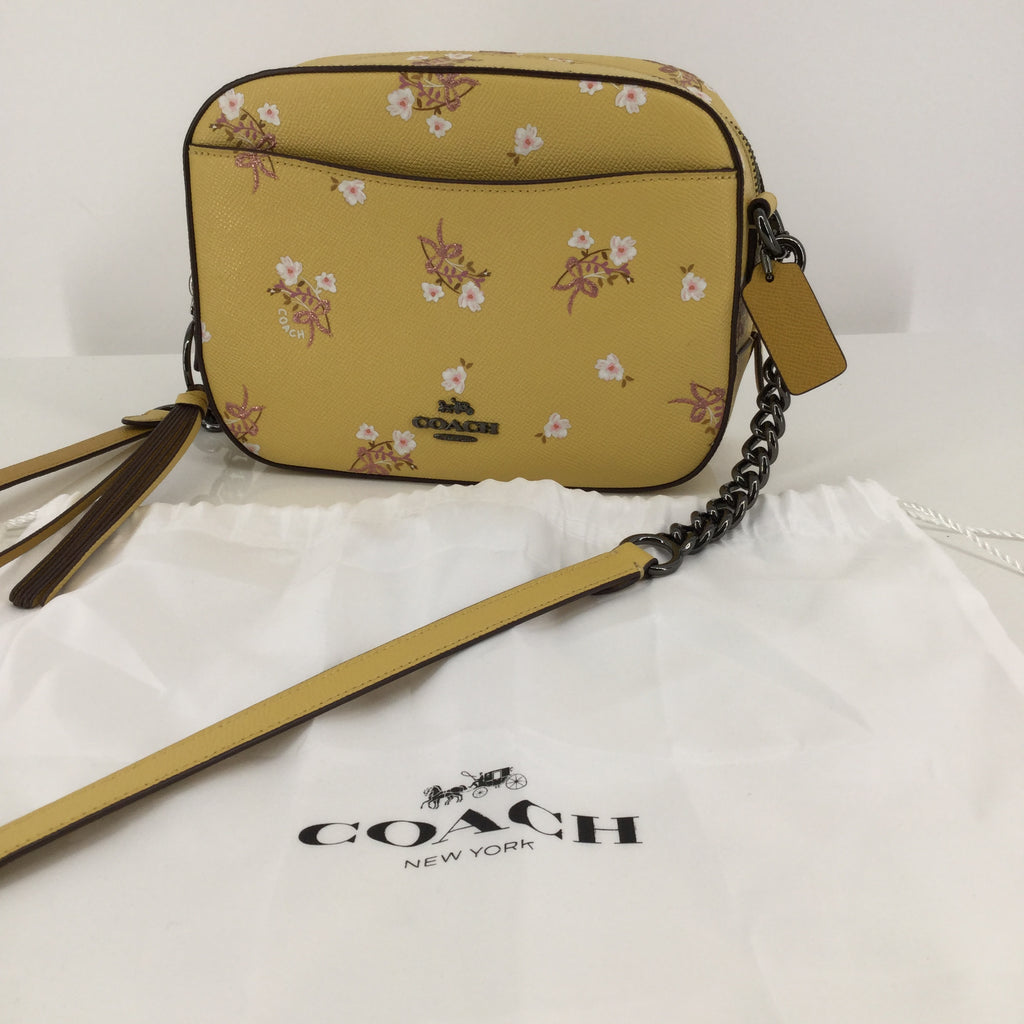 Coach Yellow Leather Designer Handbag