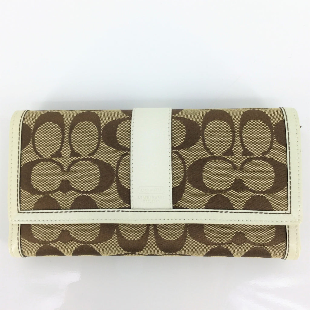 NWT COACH SIGNATURE CHECKBOOK WALLET