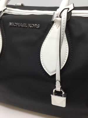 Michael Kors Large Duffle Bag, NWT retail $348 - INTERIOR HAS ONE ZIP CLOSURE POCKETCELL PHONE POCKETPLUS MANY OTHERS FOR CREDIT CARDS, PENS, ETC...REMOVABLE & ADJUSTABLE LONG STRAP
