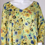 Zara Basic Floral Top Size: Large - SILKY & SOFT FLORALS FOR SPRING!