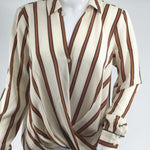 APPAREL,TOPS - SUPER CUTE STRIPED LONG SLEEVE TOP. GREAT DETAIL AT THE WAIST.