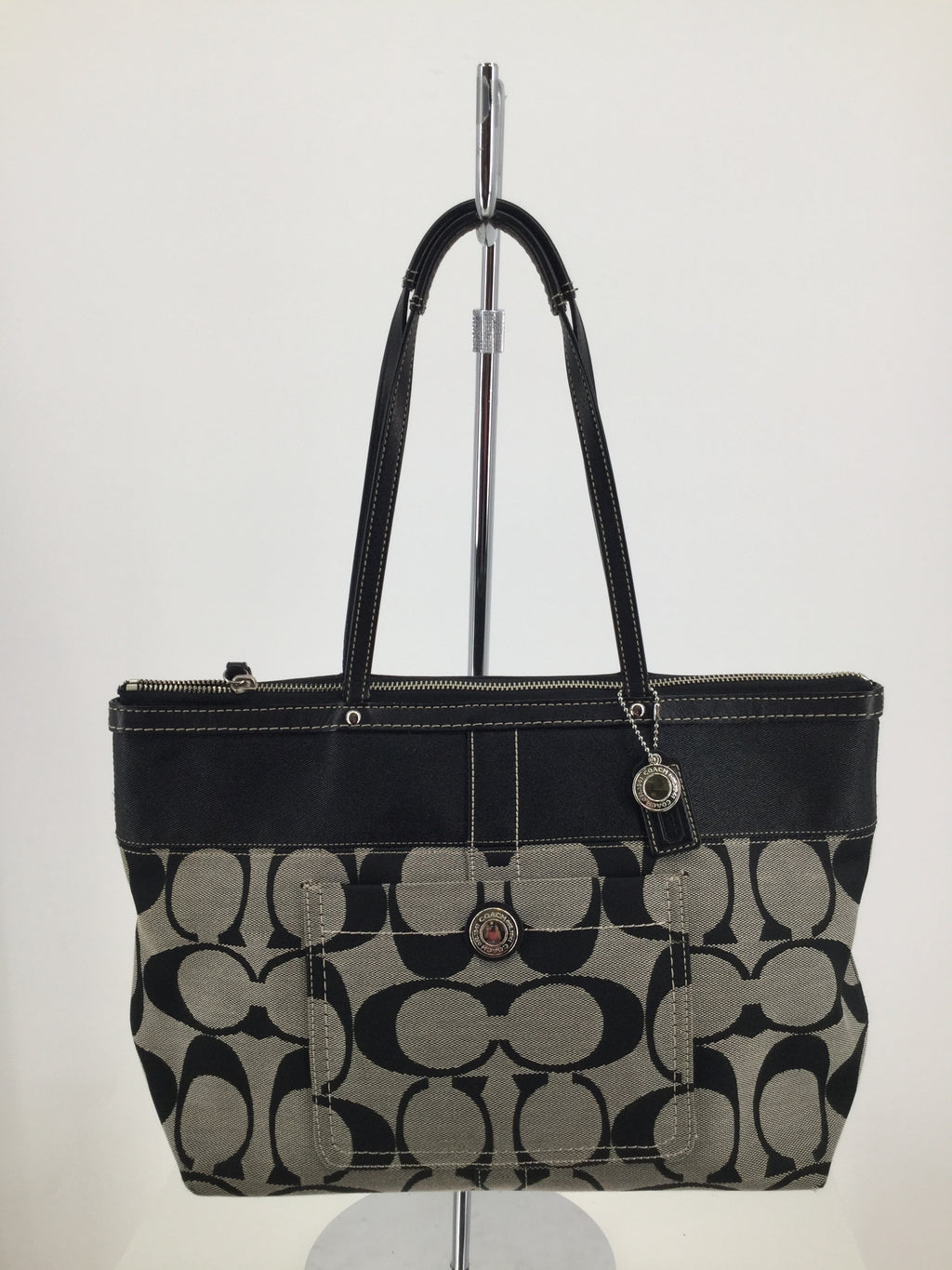 Coach Designer Handbag, Black, Large