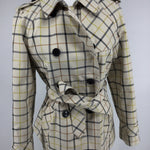 APPAREL,OUTERWEAR - COACH TATTERSALL SHORT TRENCH - THIS IS THAT TIME OF YEAR WHERE IT'S TOO COLD FOR NO JACKET, BUT YOU'VE ALREADY PUT AWAY YOUR WOOL COATS.  THIS WAS SELLING NEW FOR NEARLY $400, BUT YOU CAN GET IT FROM CM FOR 175!