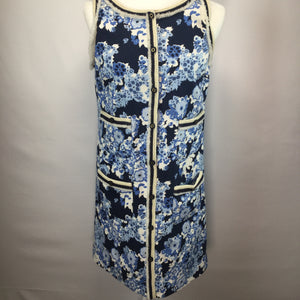 APPAREL,DRESSWEAR - HALF BUTTON UP DRESS. 4 SLIP POCKETS. 
