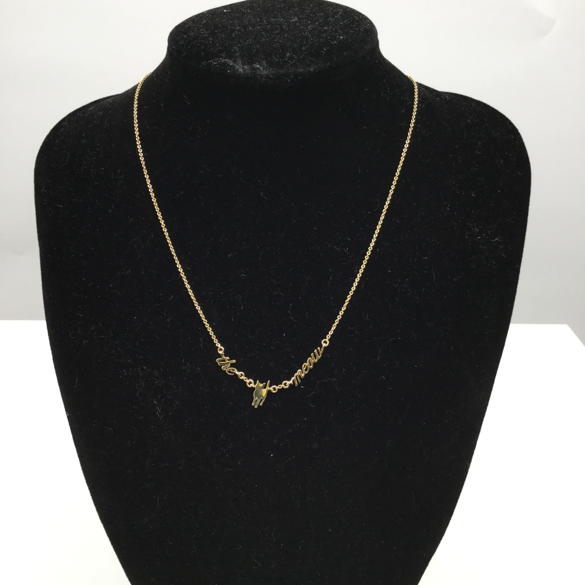 Kate Spade Gold Cat Necklace - GOLD KATE SPADE NECKLACE.