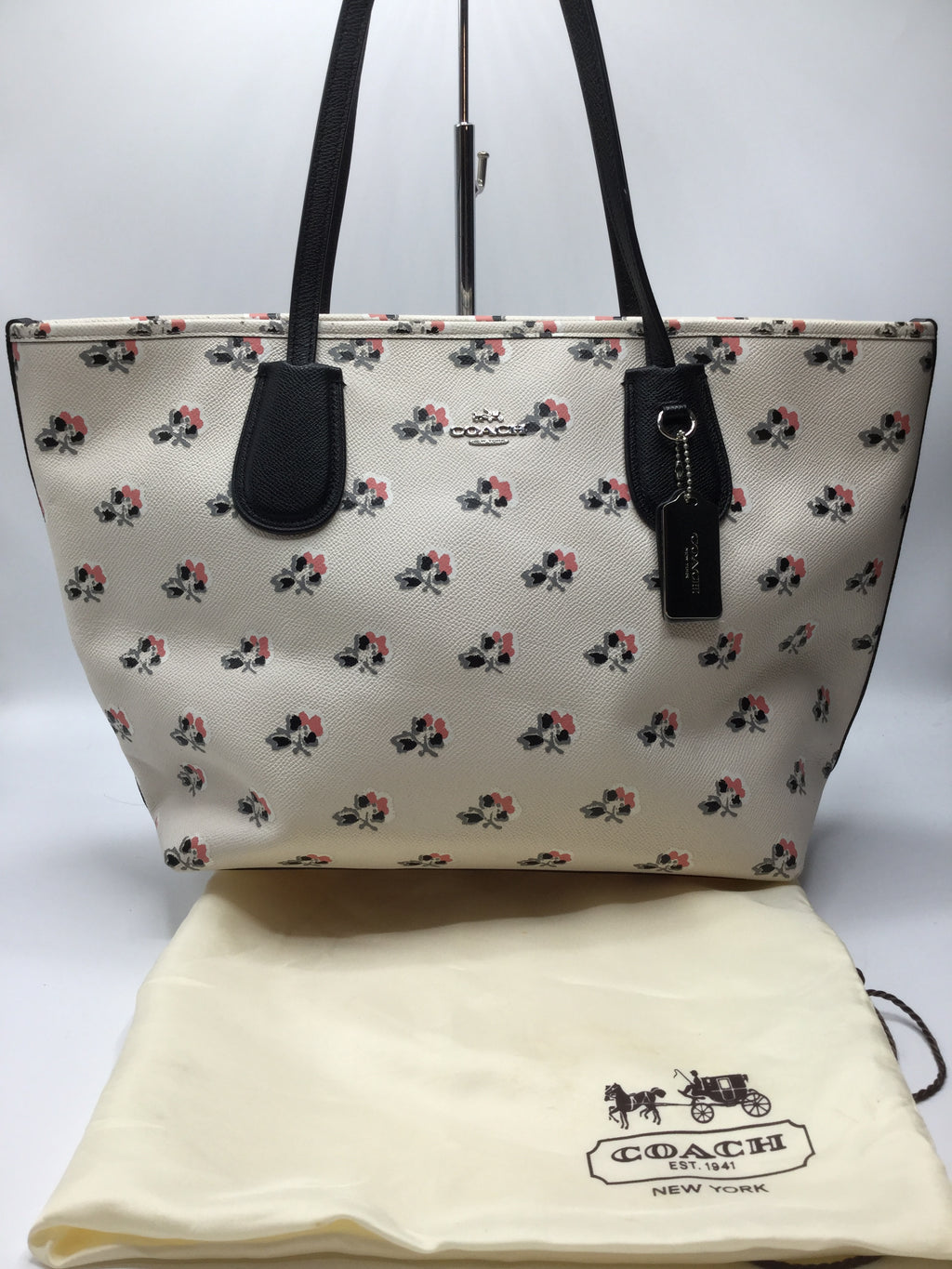 Coach Taxi Ramble Rose Floral Tote
