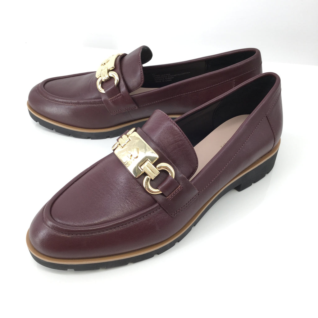 Kate Spade burgundy loafers Size: 8.