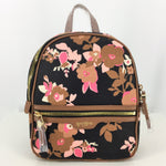 NWT Spartina Verdler Chloe Backpack  - BRAND NEW CANVAS BACKPACK. PINK AND BROWN FLORAL ON BLACK BACKGROUND. BROWN LEATHER ADJUSTABLE STRAPS AND TRIM. FULL ZIP CLOSURE. ONE FRONT POCKET. BRIGHT PINK LINING WITH ONE ZIPPER POCKET AND TWO SLIP POCKETS INSIDE.