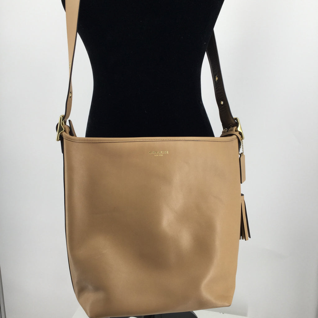 COACH LEGACY LEATHER TAN DUFFLE