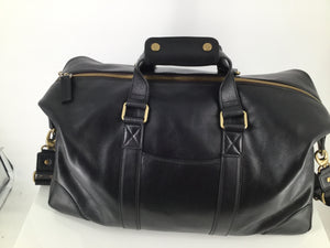 BOSCA BLACK LEATHER TRAVEL DUFFEL BRAND NEW - BOSCA BLACK LEATHER TRAVEL DUFFEL BRAND NEW. THIS BAG SMELLS LIKE LUSH LEATHER AND IS THE SOFTEST LEATHER YOU WILL FEEL. PERFECT FOR AN OVERNIGHT TRIP OR A GREAT CARRY ON DUFFEL.