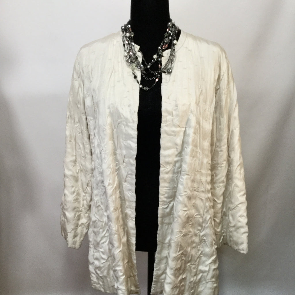 EILEEN FISHER Silk Ruching Blazer jacket SIZE medium