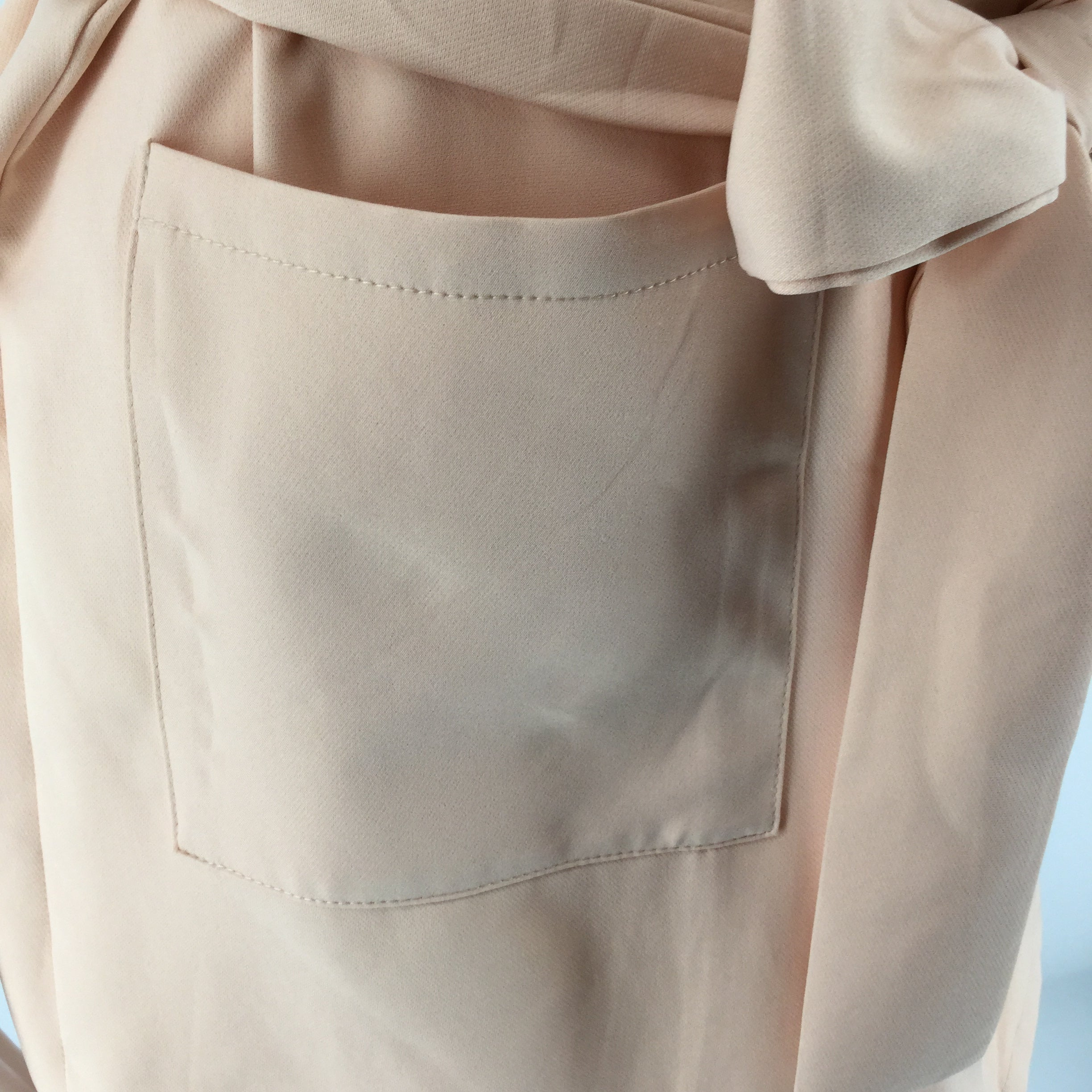 APPAREL,TOPS - SHEIN PEACH COLORED VEST WITH POCKETS AND TIE AT THE WAIST. GREAT SPRING COLOR AND STYLE.