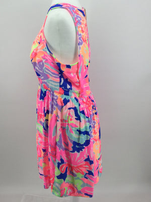 APPAREL,DRESSWEAR - VERY BRIGHT AND COLORFUL SLEEVELESS DRESS