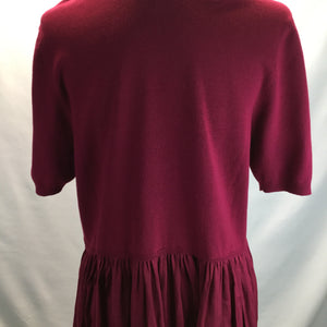 Torrid Raspberry Short Sleeve Top Size 2X - TORRID RASPBERRY BABYDOLL TOP WITH SATIN BOTTOM.
