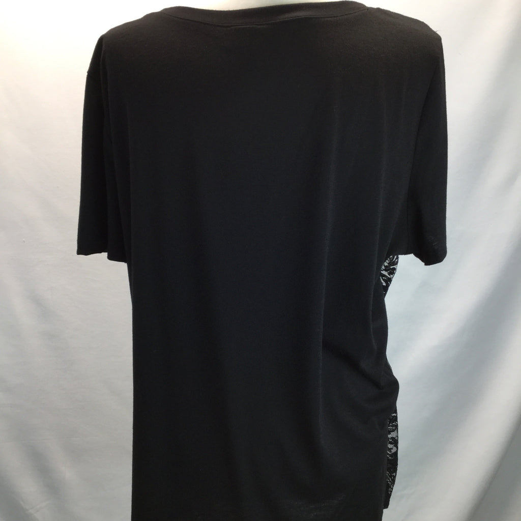 Torrid Black Graphic T-Shirt W/ Lace Overlay Size 2X - Reduced Price!