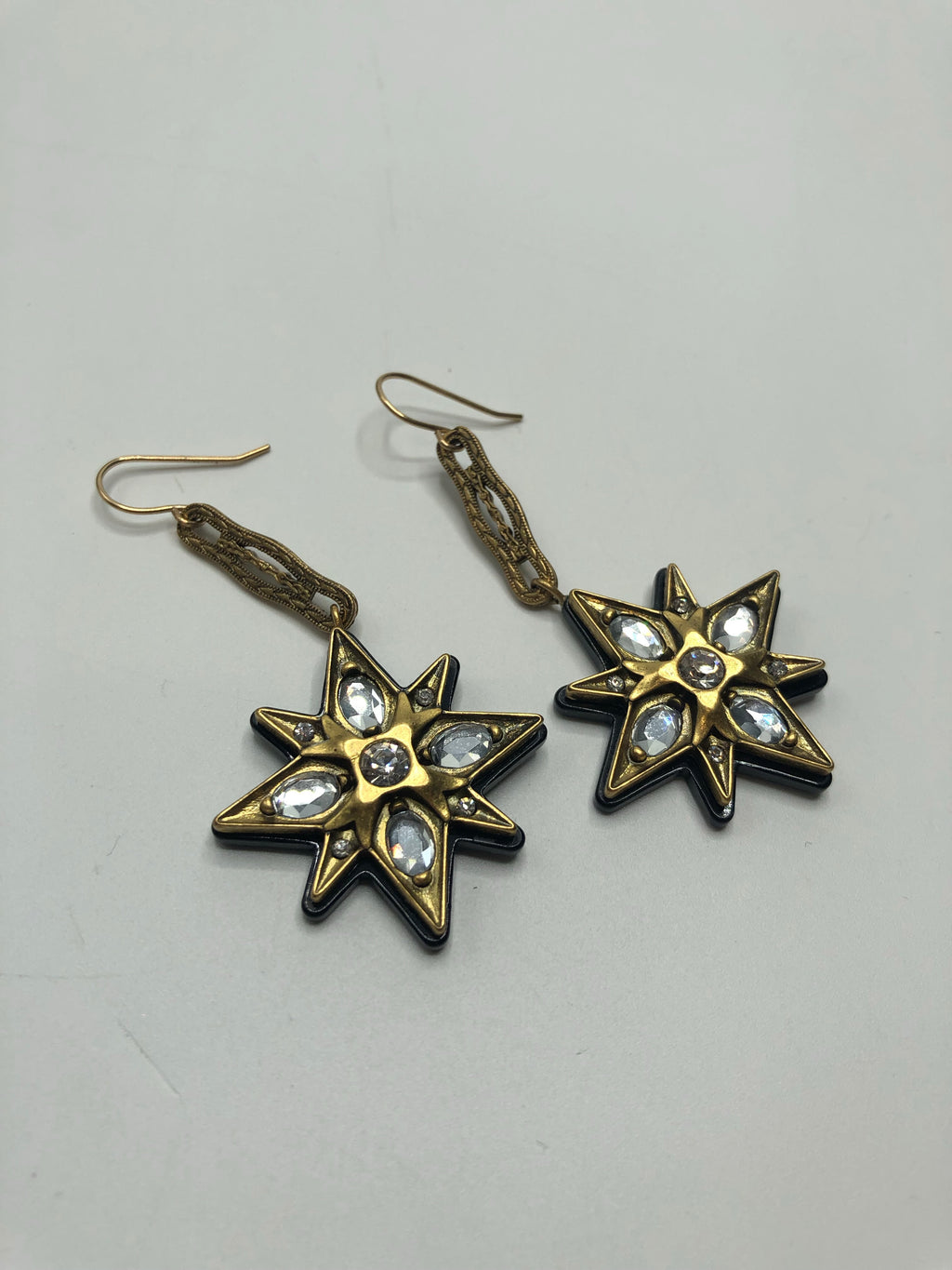 Lulu Frost For J Crew Art Deco Dangling Earrings