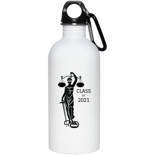 Justice Class of 2021 20 oz. Stainless Steel Water Bottle