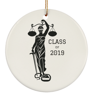 Justice Class of 2019 Ceramic Circle Ornament