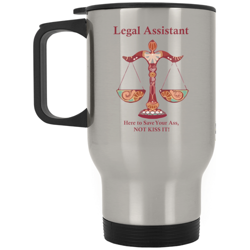 Assistant Kiss! Silver Stainless Travel Mug