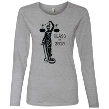 Load image into Gallery viewer, Justice Class of 2019 Ladies' Lightweight LS T-Shirt