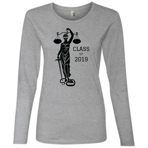 Justice Class of 2019 Ladies' Lightweight LS T-Shirt