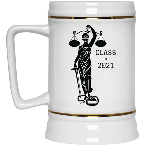 Justice Class of 2021 Beer Stein 22oz.