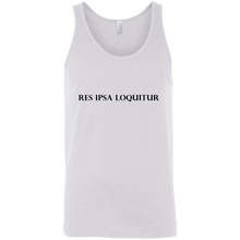 Load image into Gallery viewer, Res Ipsa Loquitur Black Bold Font Unisex Tank