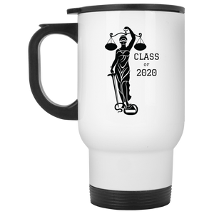 Justice Class of 2020 White Travel Mug