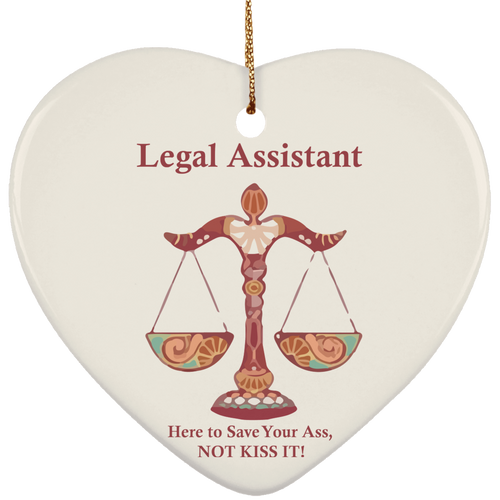 Assistant Kiss! Ceramic Heart Ornament
