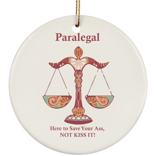 Para Kiss! Ceramic Circle Ornament
