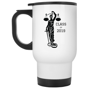 Justice Class of 2019 White Travel Mug