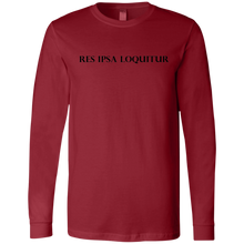 Load image into Gallery viewer, A Res Ipsa Loquitur Black Bold Font Jersey LS T-Shirt