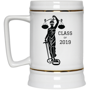 Justice Class of 2019 Beer Stein 22oz.