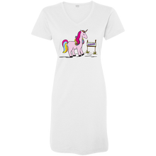 Load image into Gallery viewer, Real Unicorns Ladies' V-Neck Fine Jersey Cover-Up