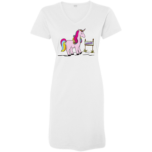 Real Unicorns Ladies' V-Neck Fine Jersey Cover-Up