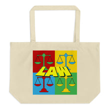 Load image into Gallery viewer, Law Pop Art, Large organic tote bag