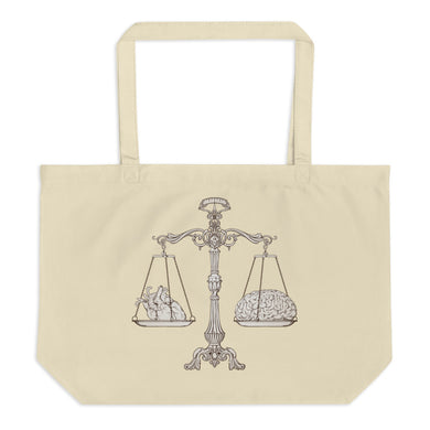 Heart and Mind Law Large Organic Tote Bag