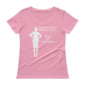Heart of Lady Justice #swwlds Ladies' Scoopneck T-Shirt