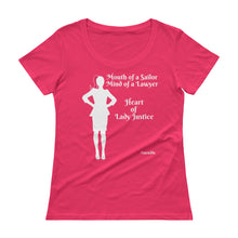 Load image into Gallery viewer, Heart of Lady Justice #swwlds Ladies' Scoopneck T-Shirt