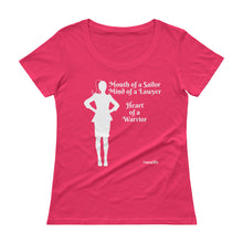 Load image into Gallery viewer, Heart of A Warrior, Multiple Colors, Ladies' Scoopneck T-Shirt