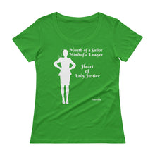 Load image into Gallery viewer, Heart of Lady Justice, #SWWLDS Ladies' Scoopneck T-Shirt