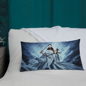 Walking Lady Justice Premium Pillow