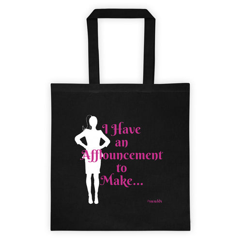 Afflouncement, I'm Leaving! 2-sided Tote bag