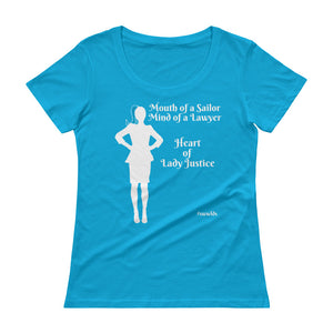 Heart of Lady Justice, #SWWLDS Ladies' Scoopneck T-Shirt