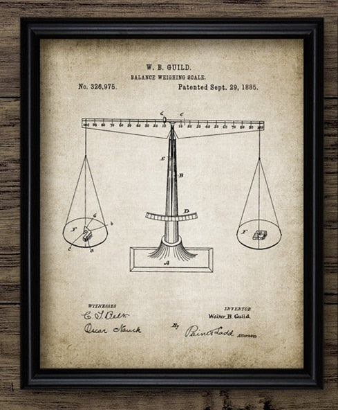 Legal Patent-Style Canvas Prints