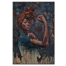 Load image into Gallery viewer, Powerful Black Woman Framed Canvas
